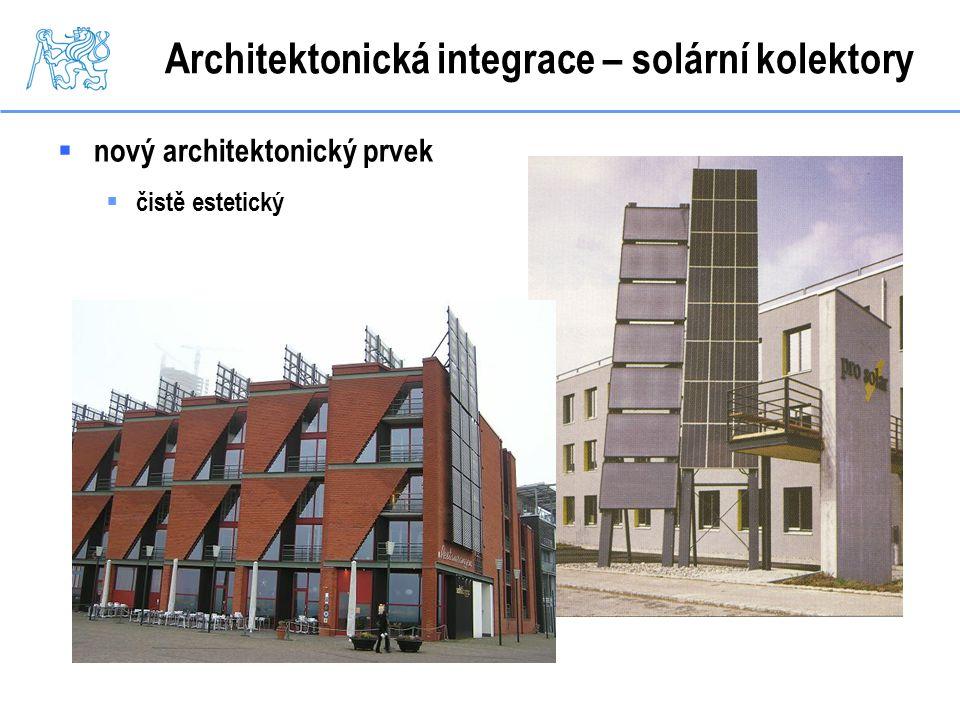 Architektonická integrace – solární kolektory