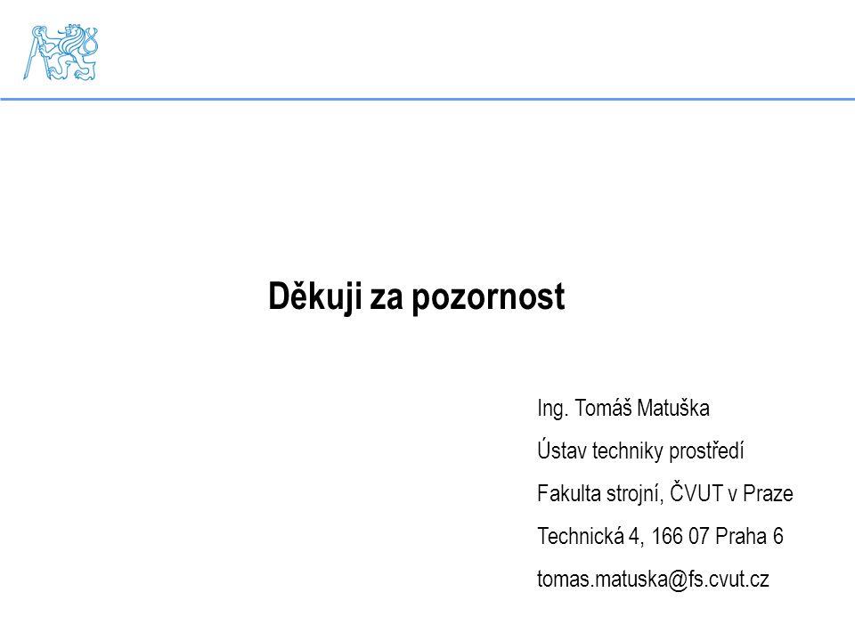 Děkuji za pozornost Ing. Tomáš Matuška Ústav techniky prostředí