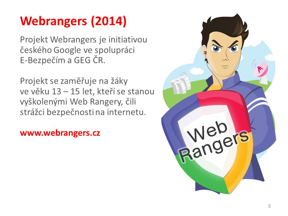 Webrangers (2014) Projekt Webrangers je initiativou