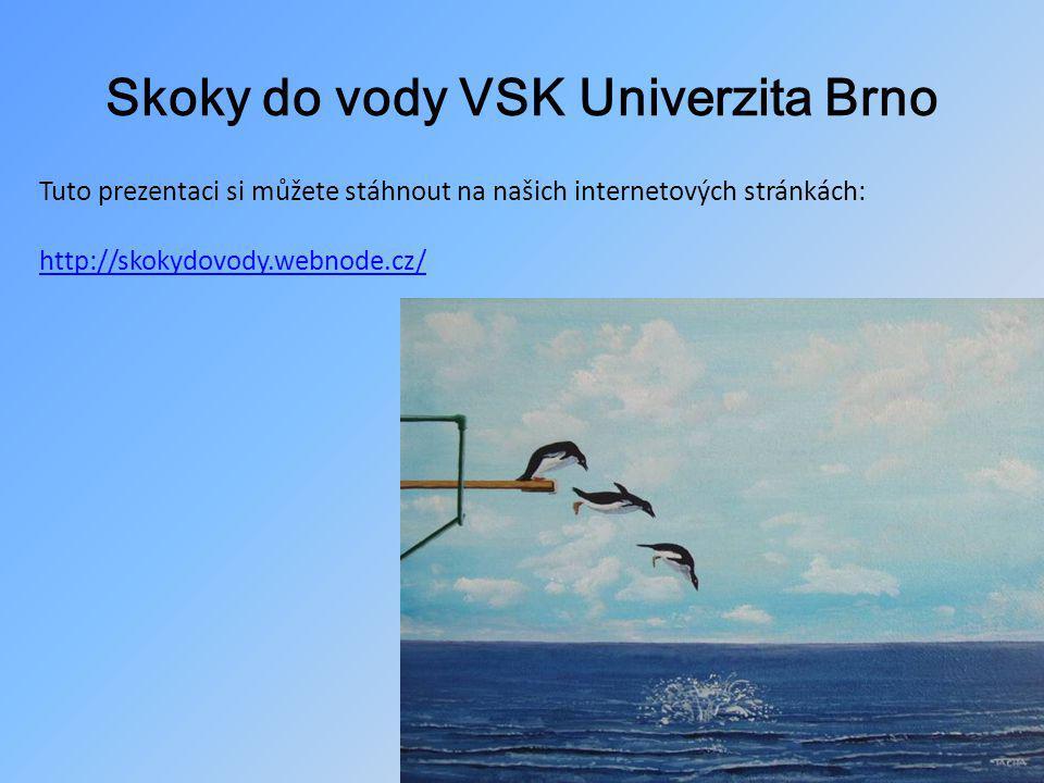 Skoky do vody VSK Univerzita Brno