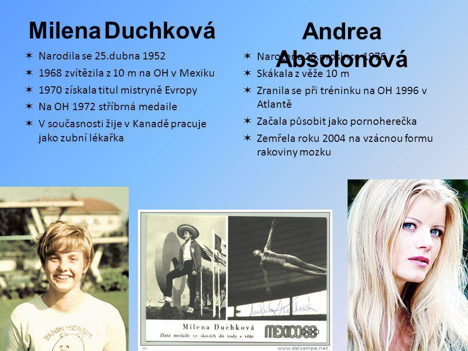 Milena Duchková Andrea Absolonová Narodila se 25.dubna 1952