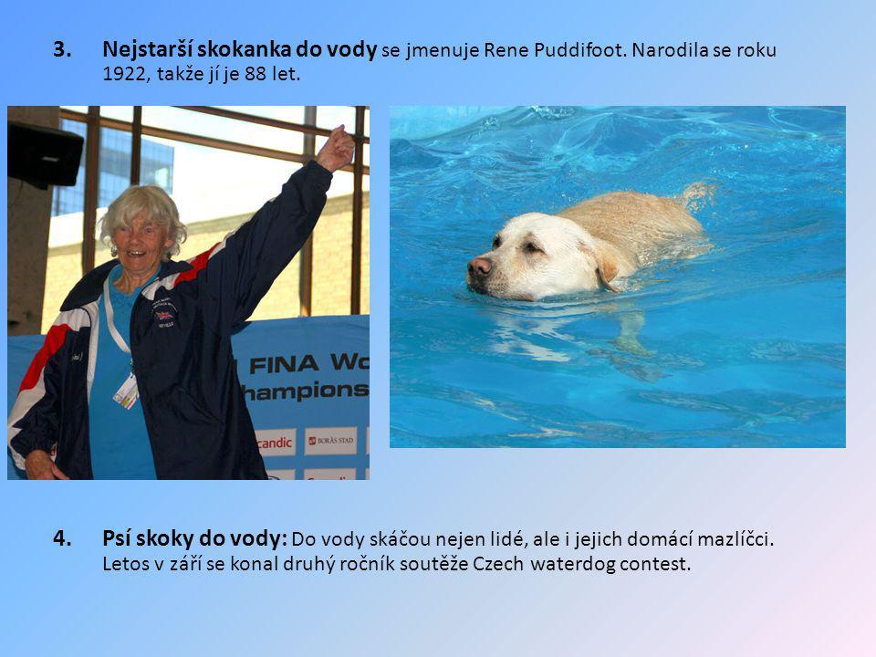 Nejstarší skokanka do vody se jmenuje Rene Puddifoot