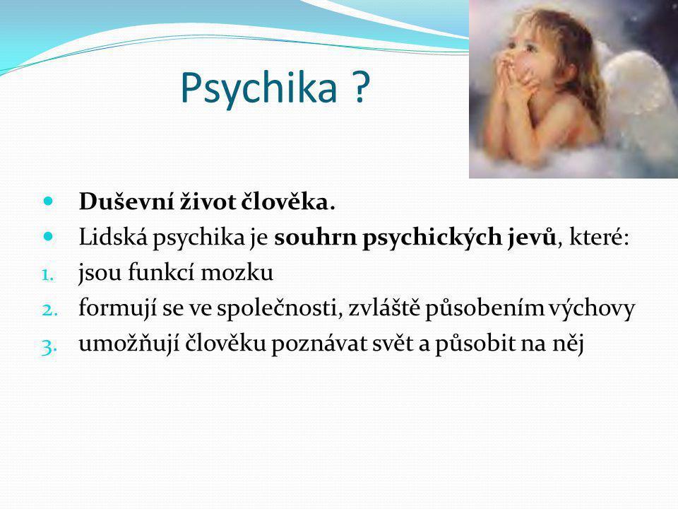 Psychika Duševní život člověka.