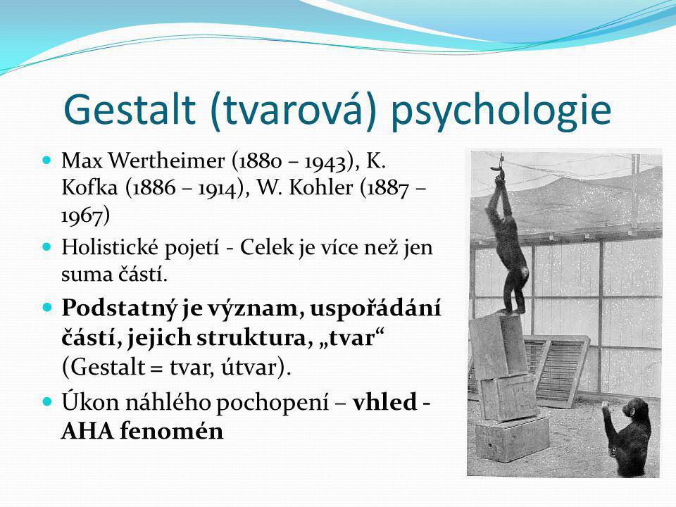 Gestalt (tvarová) psychologie