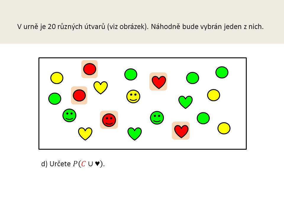 V urně je 20 různých útvarů (viz obrázek)