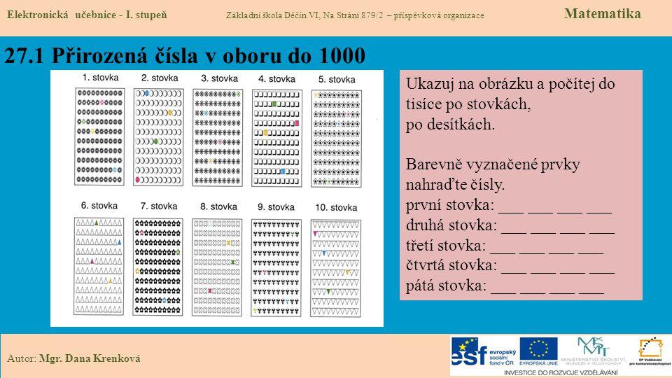 27.1 Přirozená čísla v oboru do 1000