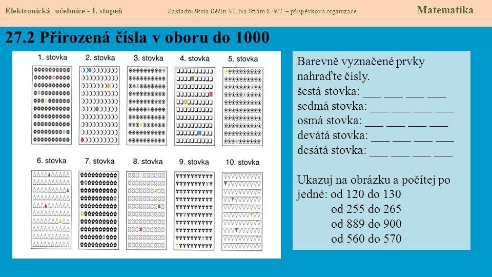 27.2 Přirozená čísla v oboru do 1000