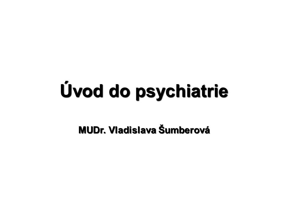 MUDr. Vladislava Šumberová
