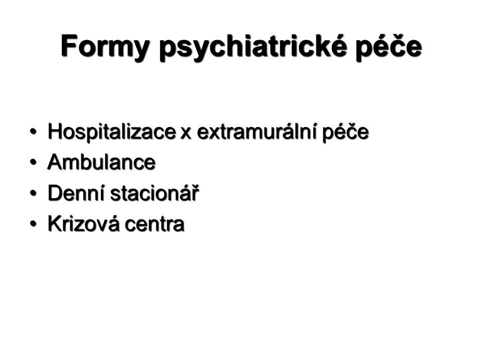 Formy psychiatrické péče