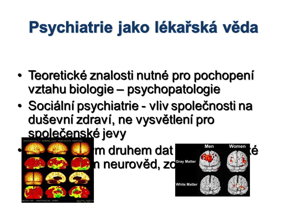 Psychiatrie jako lékařská věda