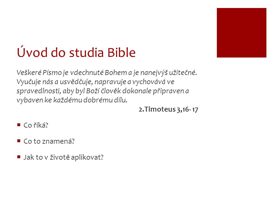Úvod do studia Bible