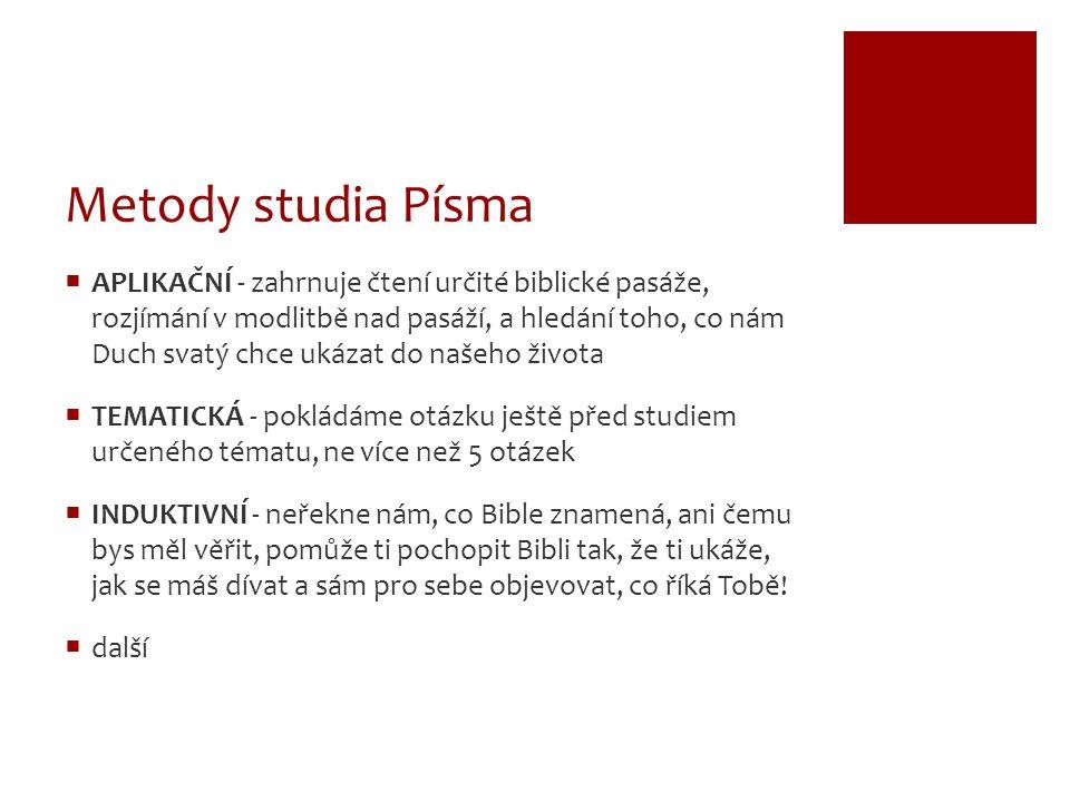 Metody studia Písma