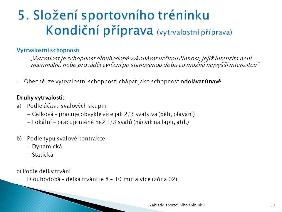 5. Složení sportovního tréninku