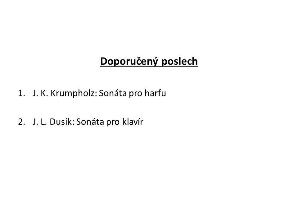 Doporučený poslech J. K. Krumpholz: Sonáta pro harfu