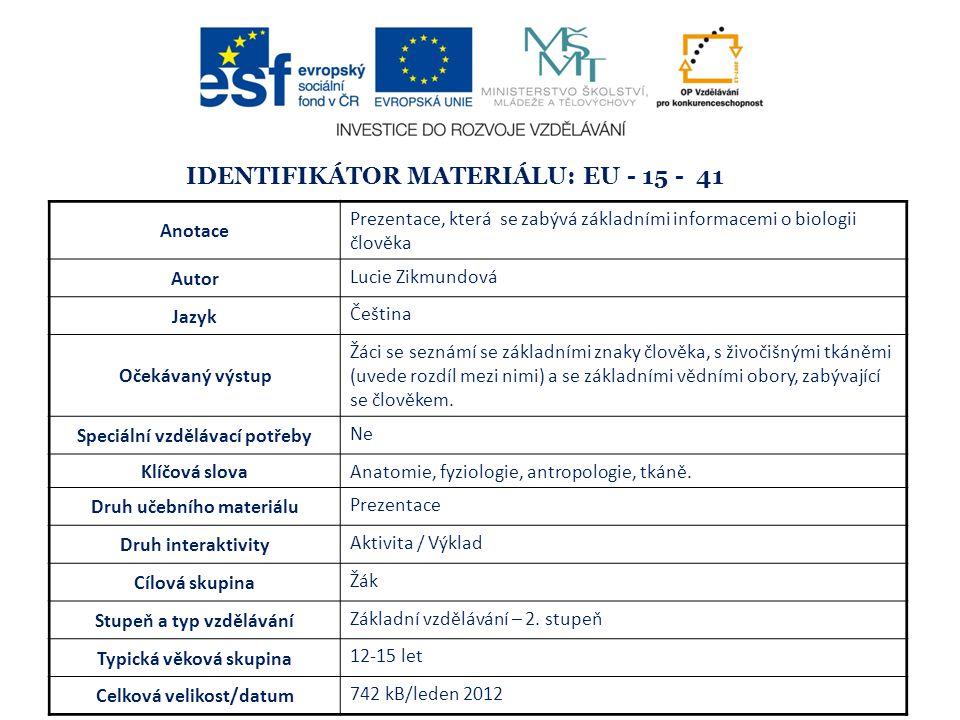 Identifikátor materiálu: EU - 15 - 41