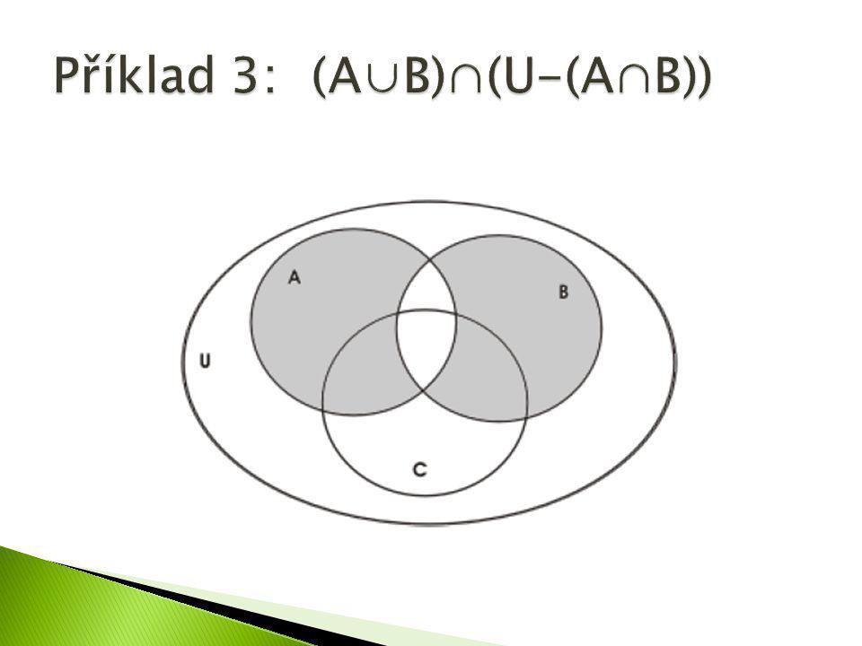 Příklad 3: (A∪B)∩(U-(A∩B))