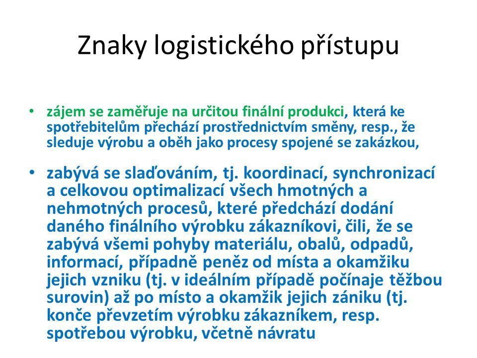 Znaky logistického přístupu