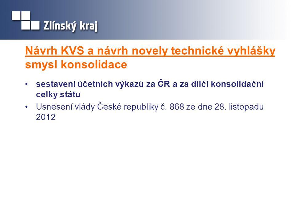 Návrh KVS a návrh novely technické vyhlášky smysl konsolidace