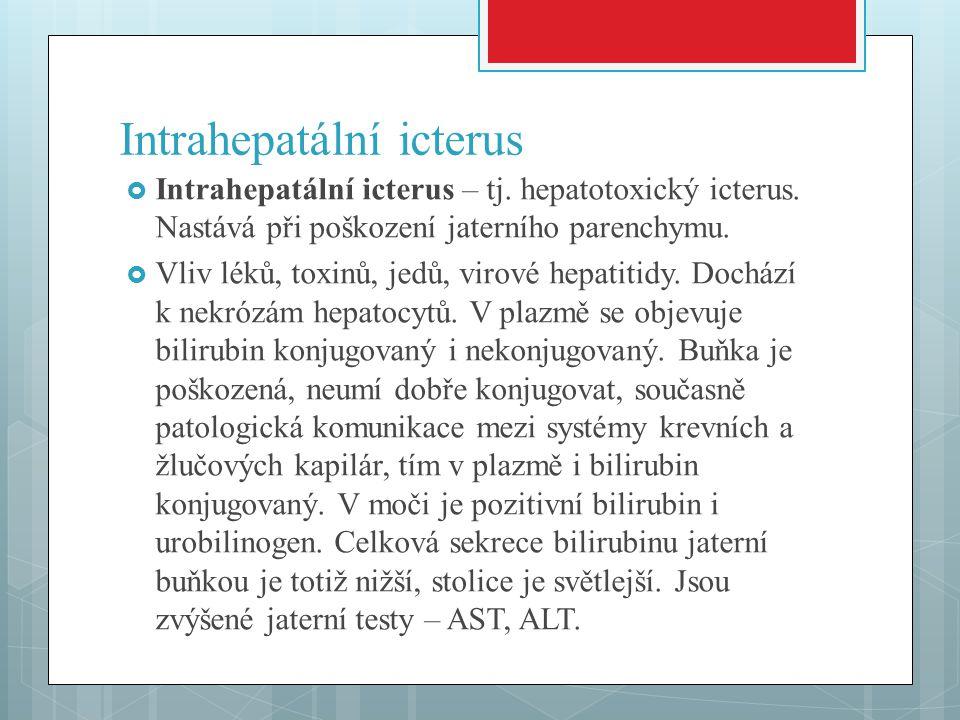 Intrahepatální icterus