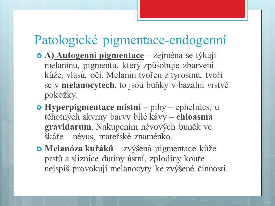 Patologické pigmentace-endogenní
