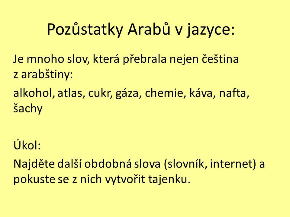 Pozůstatky Arabů v jazyce: