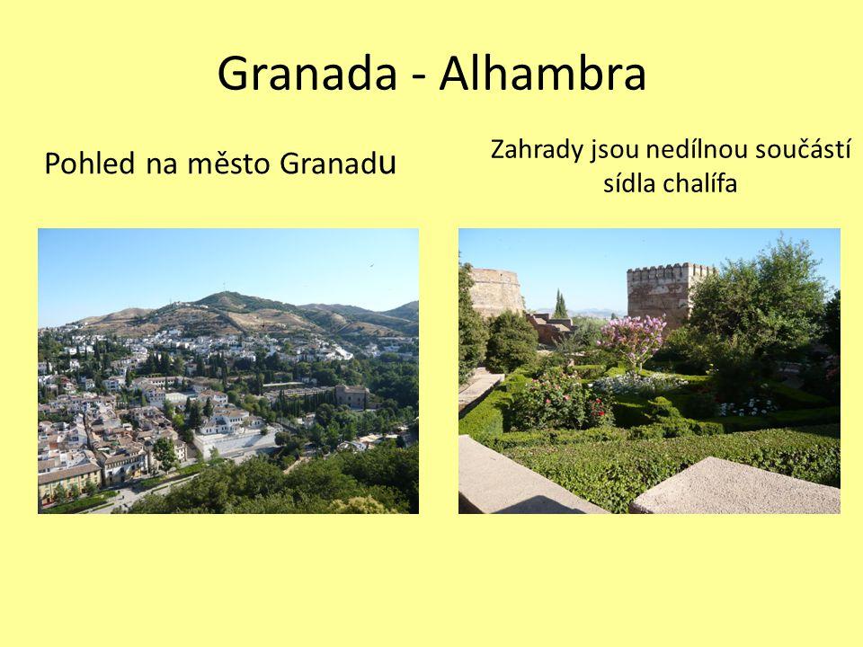 Granada - Alhambra Pohled na město Granadu