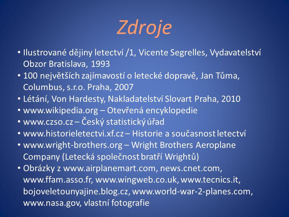 Zdroje Ilustrované dějiny letectví /1, Vicente Segrelles, Vydavatelství Obzor Bratislava, 1993.
