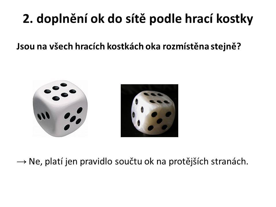 2. doplnění ok do sítě podle hrací kostky