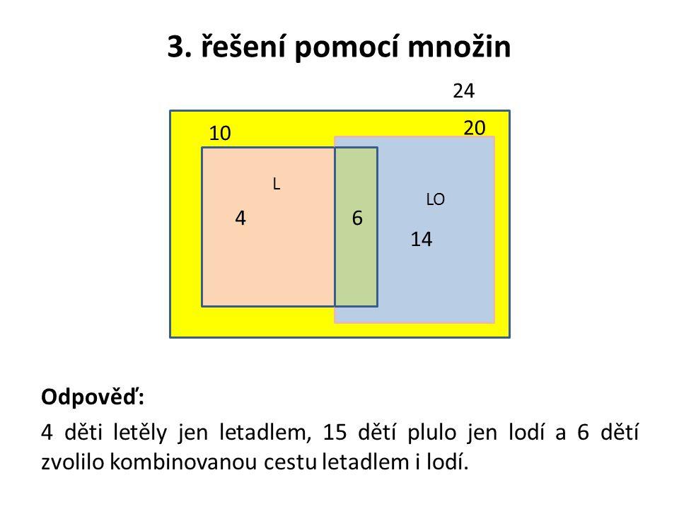 3. řešení pomocí množin Odpověď: