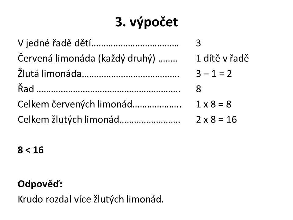 3. výpočet