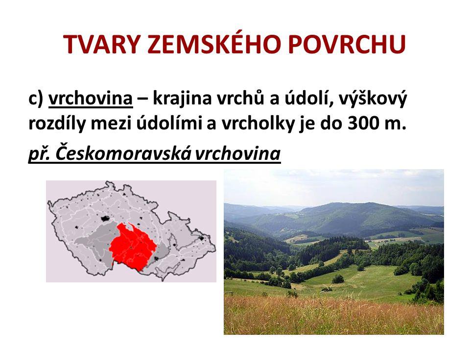 TVARY ZEMSKÉHO POVRCHU