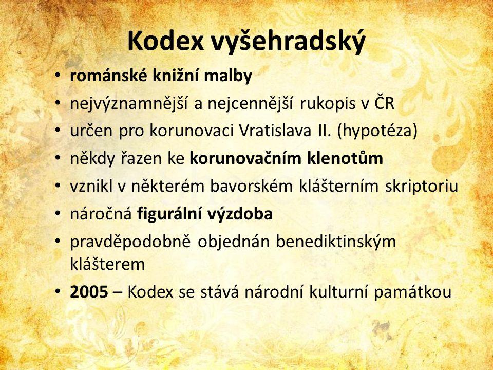 Kodex vyšehradský románské knižní malby
