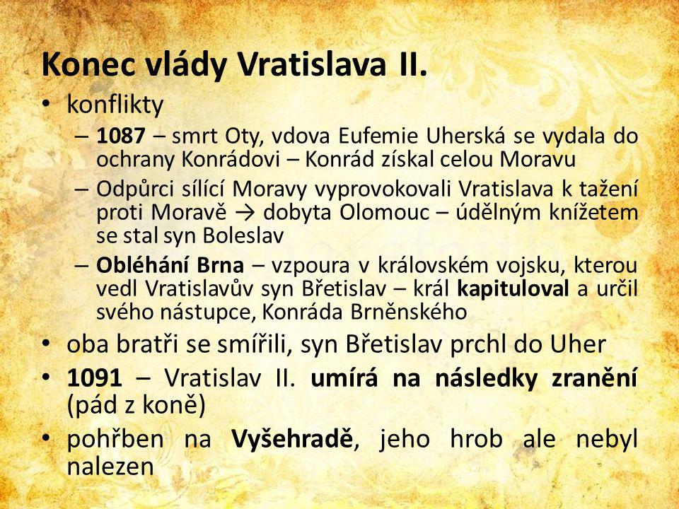 Konec vlády Vratislava II.