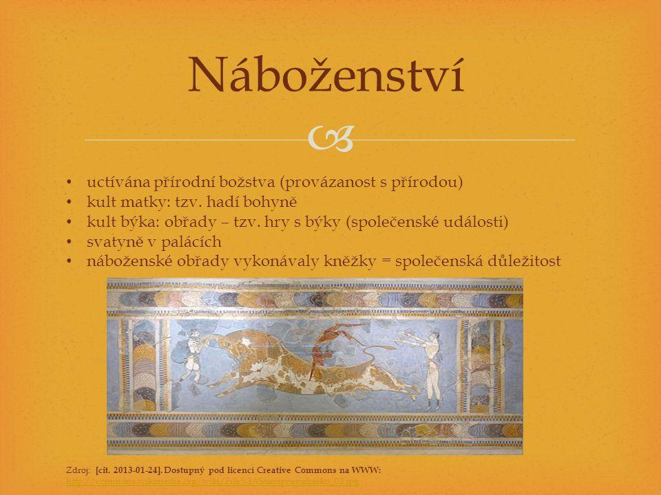 Náboženství uctívána přírodní božstva (provázanost s přírodou)