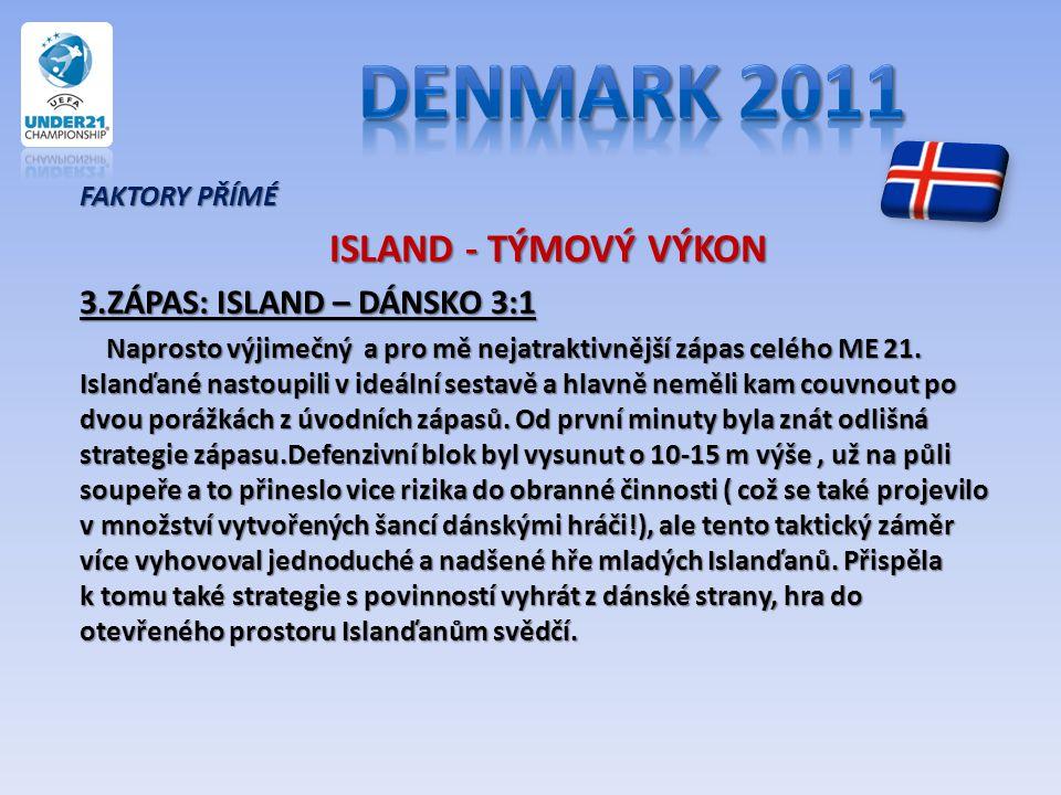 Denmark 2011 ISLAND - TÝMOVÝ VÝKON 3.ZÁPAS: ISLAND – DÁNSKO 3:1