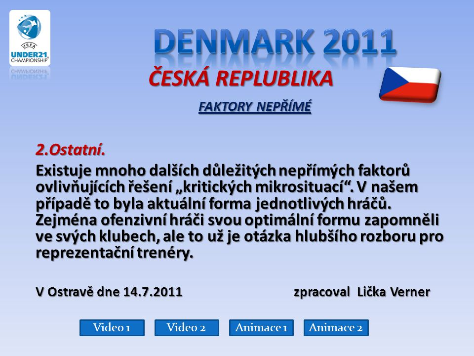 Denmark 2011 ČESKÁ REPLUBLIKA FAKTORY NEPŘÍMÉ 2.Ostatní.