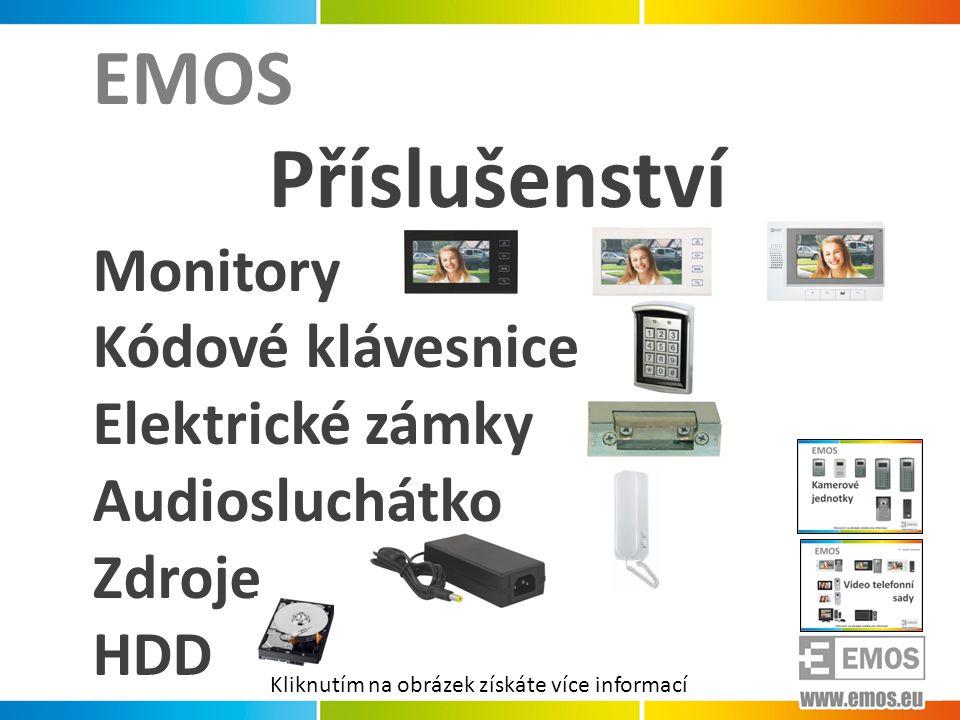Příslušenství EMOS Monitory Kódové klávesnice Elektrické zámky