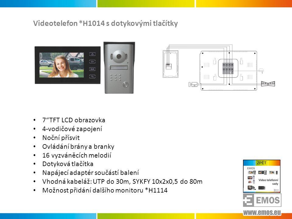 Videotelefon *H1014 s dotykovými tlačítky