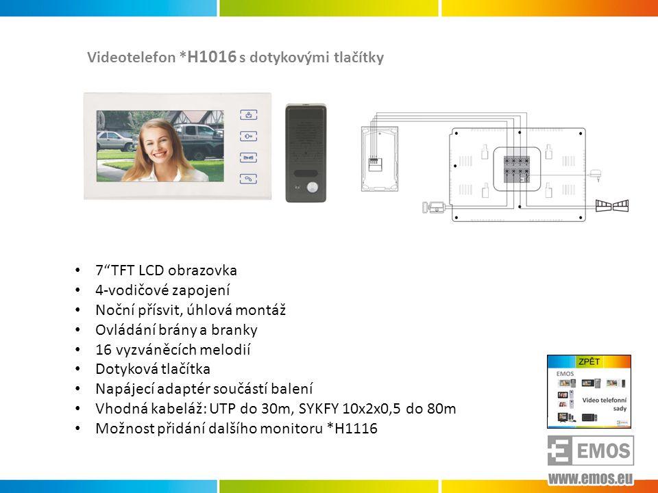 Videotelefon *H1016 s dotykovými tlačítky