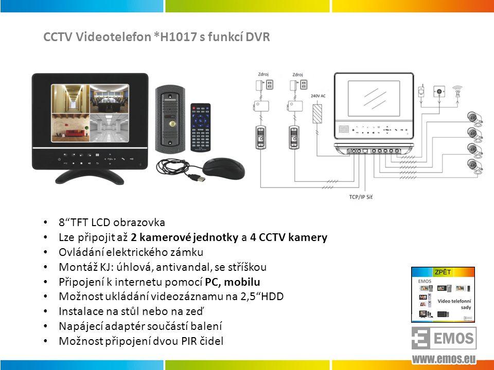 CCTV Videotelefon *H1017 s funkcí DVR