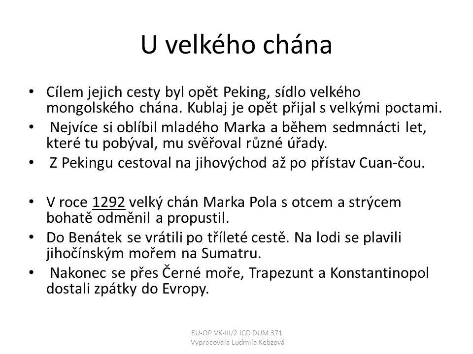 Vypracovala Ludmila Kebzová