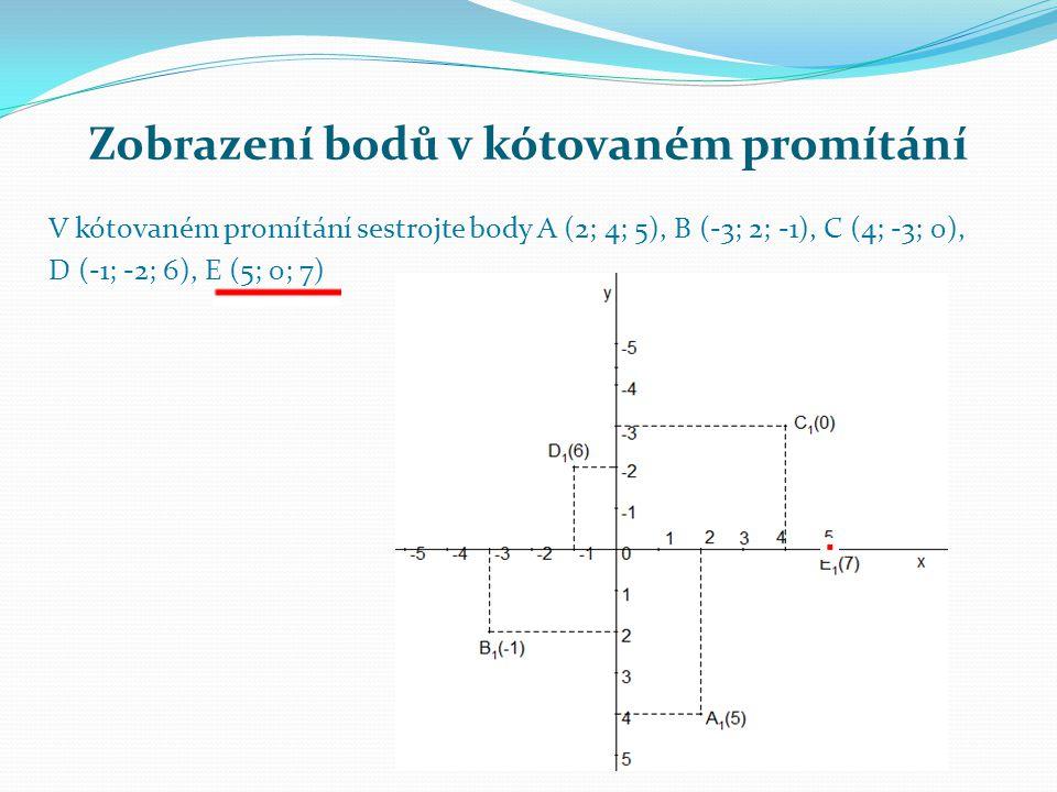Zobrazení bodů v kótovaném promítání