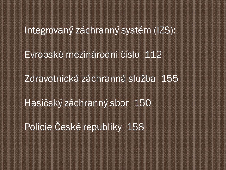 Integrovaný záchranný systém (IZS):