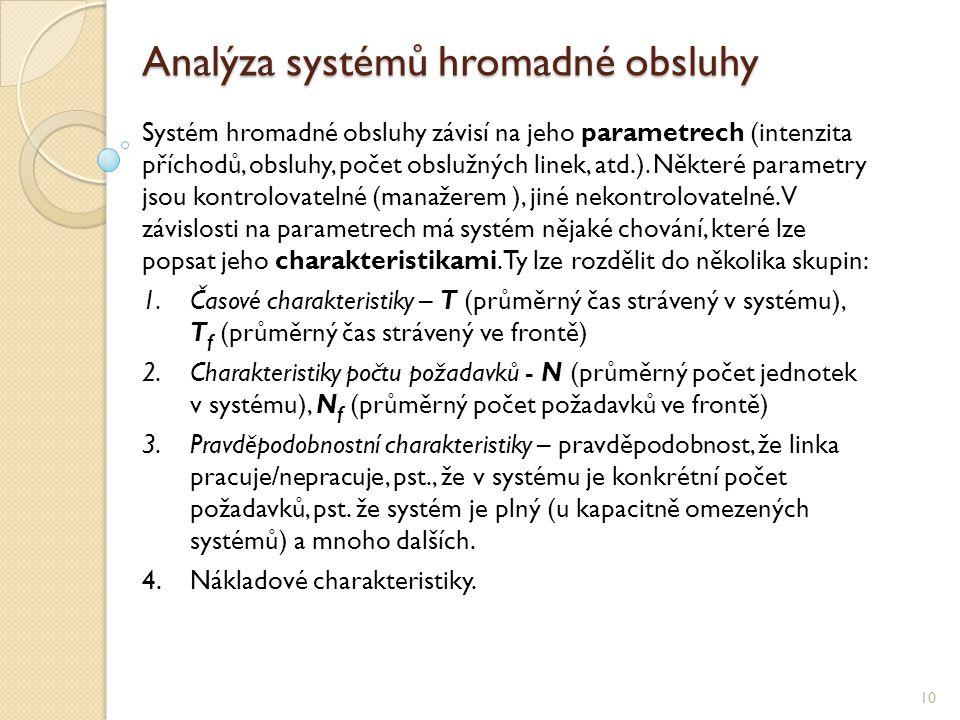 Analýza systémů hromadné obsluhy