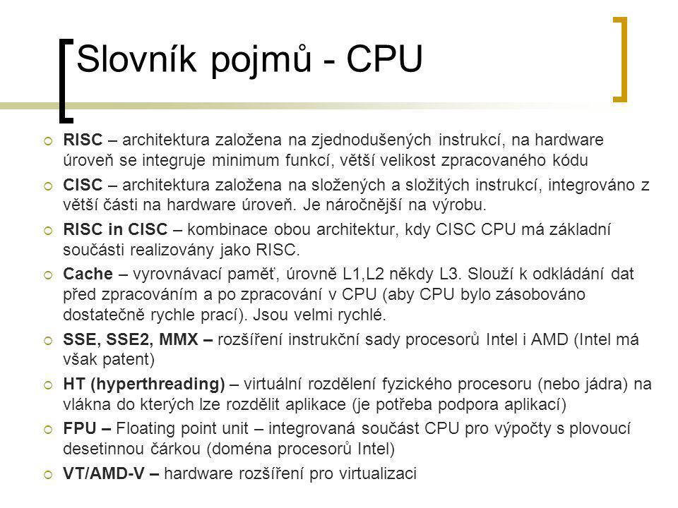 Slovník pojmů - CPU