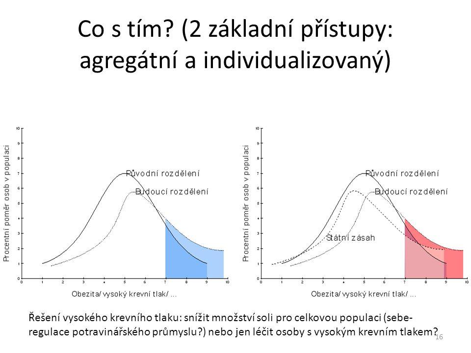 Co s tím (2 základní přístupy: agregátní a individualizovaný)