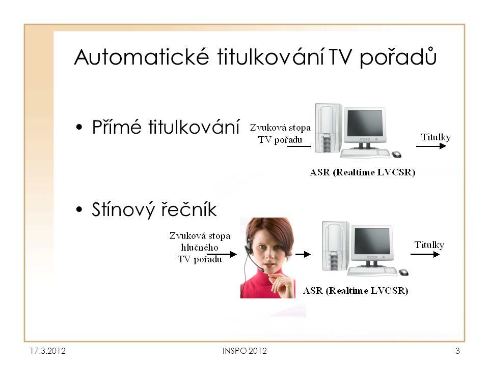 Automatické titulkování TV pořadů