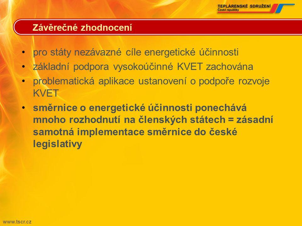 pro státy nezávazné cíle energetické účinnosti