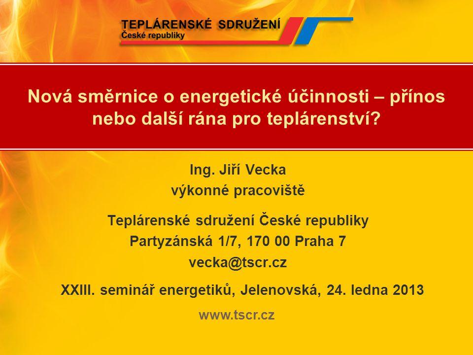 XXIII. seminář energetiků, Jelenovská, 24. ledna 2013