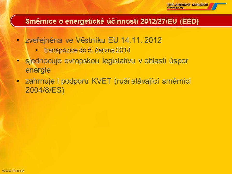 zveřejněna ve Věstníku EU 14.11. 2012